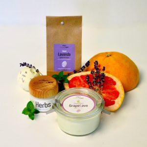 Das CreamyCare Paket Lavendel & Co ist ein Pflegeset mit Lavendelduft Produkten