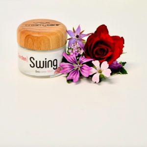 Die Deocreme Garden Swing Sommer Edition mit echtem Rosenöl - wirkt genau wie die Originalrezeptur ohne Beerenwachs